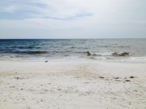 Mexico Beach--white sands, seclusion, and waves